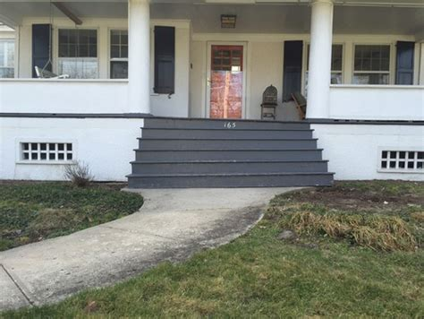 front steps to house front steps to porch and walkway brick bluestone