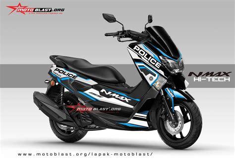 Modifikasi Stiker Yamaha Nmax by Modifikasi Striping Yamaha Nmax Black Hitech V2