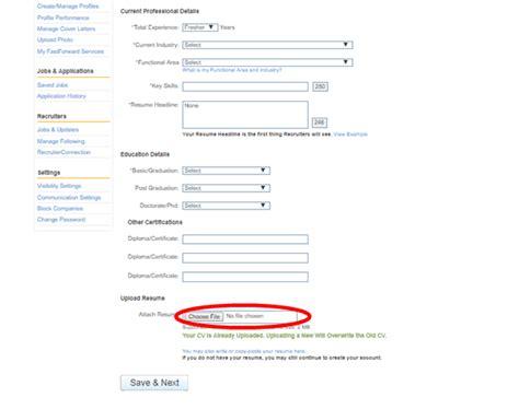 how to upload resume in naukri