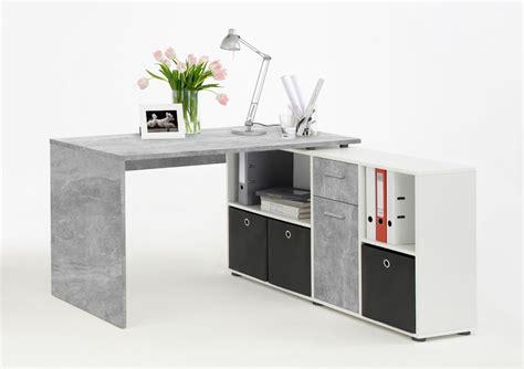 gray corner desk l shaped computer desk grey by furniturefactor