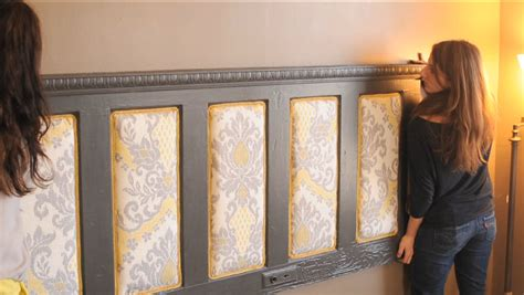 how to mount a door as a headboard upcycled upholstered headboard buildipedia