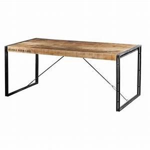 Table 140 Cm : table repas m tal et bois factory 140 cm ~ Teatrodelosmanantiales.com Idées de Décoration