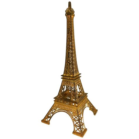eiffel tower paris france gilt metal display model