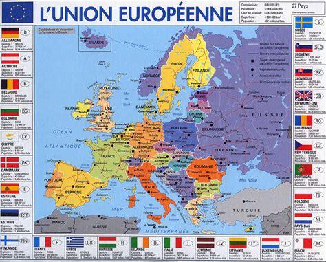Carte Européenne Avec Capitales by Vie