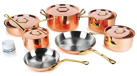 mauviel copper cookware set mm  piece mb mheritage cutlery