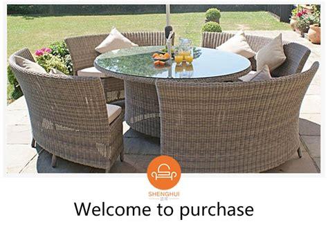 Semi Circle Outdoor Furniture by Big Shape Garden Black Table Rattan Sofa Outdoor