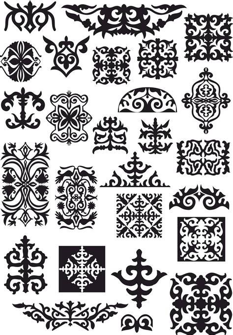 kazah ornament vectors  vector cdr  axisco