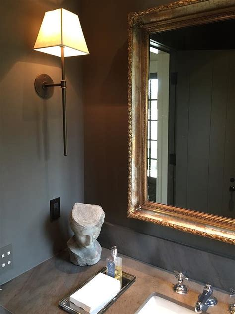 orante gold vanity mirror transitional bathroom