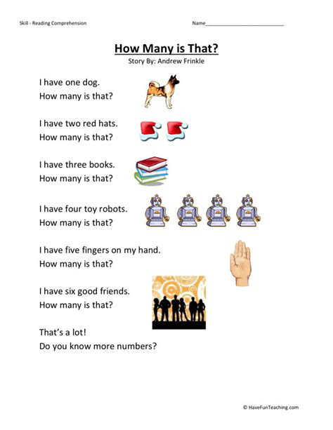 reading comprehension worksheet preschool preschool