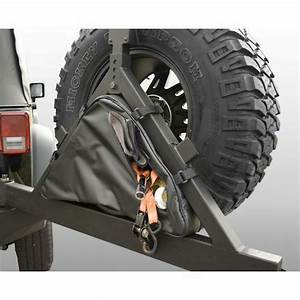 Jeep Wrangler Cj Yj Tj Jk Tire Carrier Recovery Bag Black