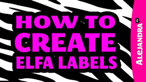 how to create elfa shelf labels with professional
