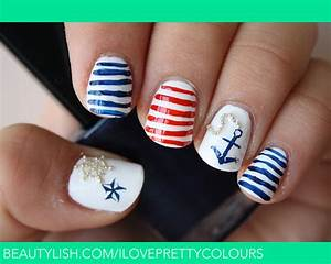 Nautical Nails | Stefani J.'s (iloveprettycolours) Photo ...