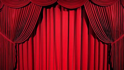 Theatre Drape by Green Screen Theater Curtain Opening
