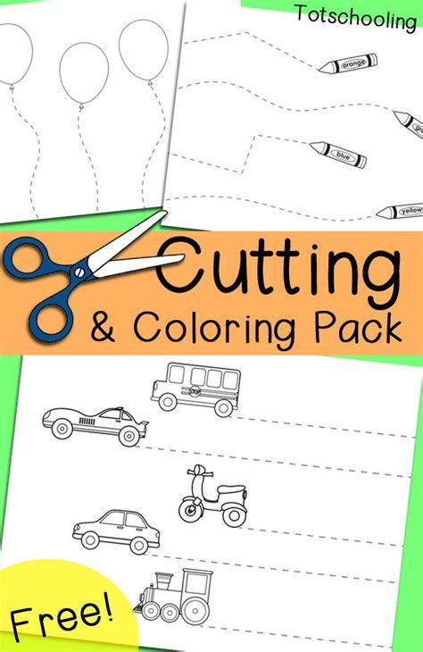 free cutting amp coloring pack 225 | d5c914d3c94127e77496cec71d9cdd0b toddler cutting practice preschool cutting practice free