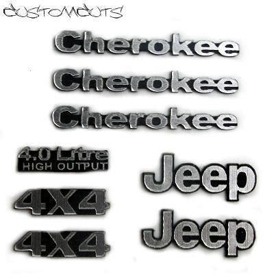 jeep cherokee logo jeep cherokee xj emblems customcuts