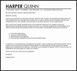 cover letter for purchasing manager - procurement assistant cover letter sample cover letter
