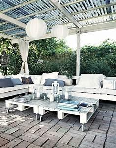 Salon De Jardin Palettes : meuble de jardin en palette de bois c t maison ~ Farleysfitness.com Idées de Décoration