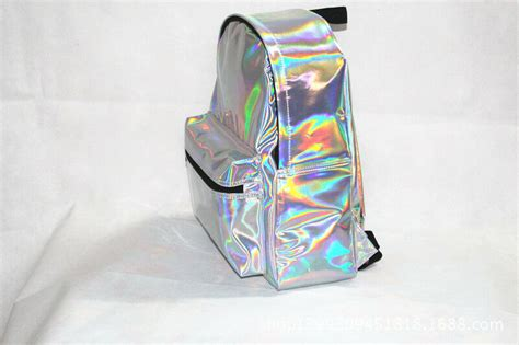 Fashion Girls Women's Hologram Holographic Pvc Leather