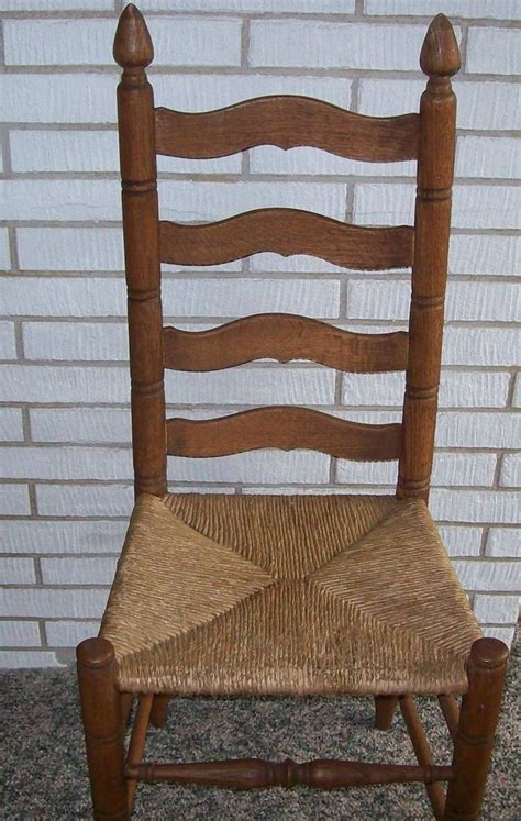 ladder  chair  rush seat ladder  chairs