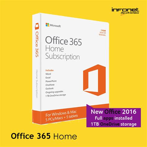 Office 365 Home Subscription by Jual Microsoft Office 365 Home 5 User 1 Year