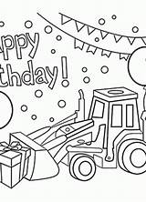 Birthday Coloring Happy Pages Cards Boys Card Printables 4th Wuppsy Collection sketch template