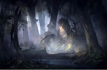 Forest Mysterious Artistic Wallpapers Strahd Curse Fantasy