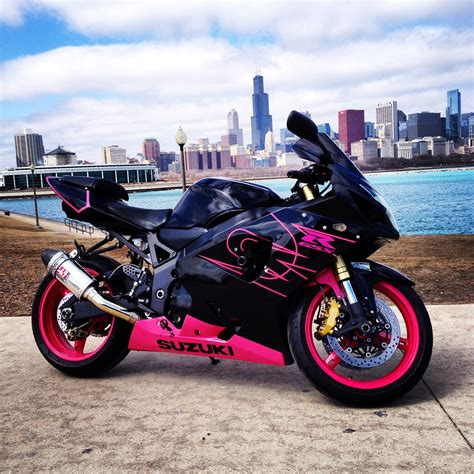 Fresh Black And Pink Motorcycle, Suzuki Gsxr 2004 In