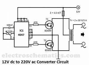 12v Dc To 220v Ac Converter Circuit