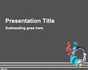 Fondo de Powerpoint de Música Plantillas PowerPoint Gratis