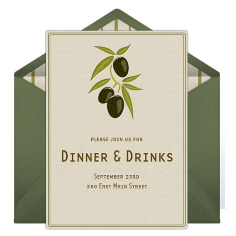 casual dinner party invitation sample