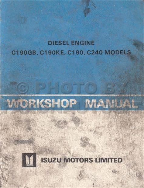 Isuzu Mark Diesel Engine Repair Shop Manual Original
