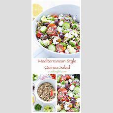 Mediterranean Style Rainbow Quinoa Salad