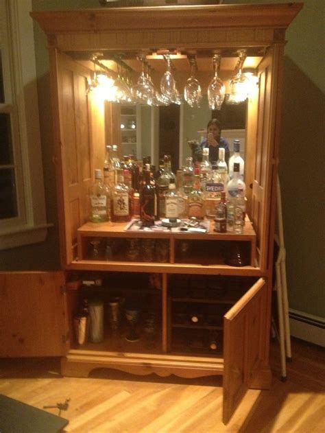 armoire cabinet into a bar 17 best images about armoire bar repurpose on