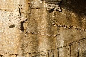 Toile De Mur : fond d 39 une vieille toile de jute clou e au mur photo stock image du burlap r ception 80515276 ~ Teatrodelosmanantiales.com Idées de Décoration