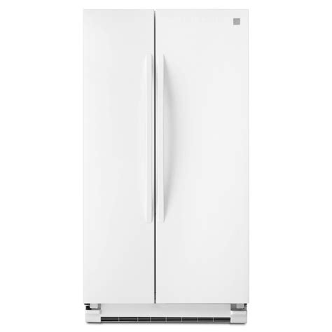 side by side refrigerator reviews kenmore 41152 25 cu ft side by side refrigerator white