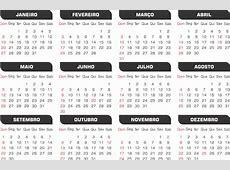 Calendário 2019 Sem Tema Modelos Simples Em Png 13