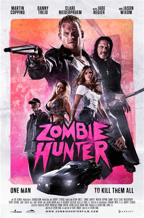 zombie hunter zombie film posters wrong side of the art
