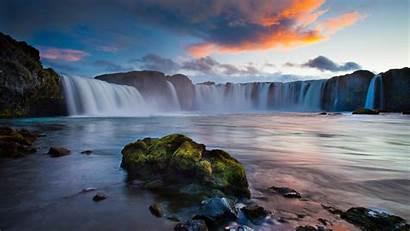 Landscape Iceland Waterfalls Resolution