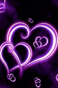 Neon Hearts Live Wallpaper App for Android