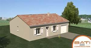 Plan Maison Pas Cher : plan maison traditionnelle pas cher de plain pied de 79 m ~ Melissatoandfro.com Idées de Décoration