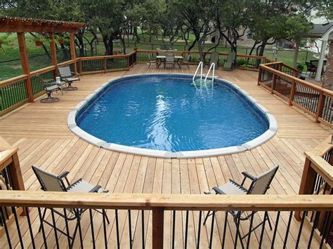 above ground oval pool deck pictures expansive and above ground pool decks