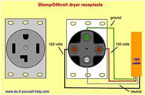 Wiring Diagram For A 30 Amp  240 Volt Outlet For Clothes