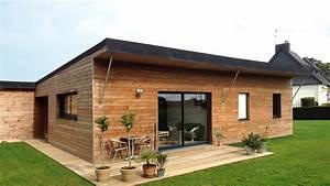 Ossature Bois Maison : maison en bois kubiq maitre d 39 oeuvre carnac morbihan 56340 ~ Melissatoandfro.com Idées de Décoration