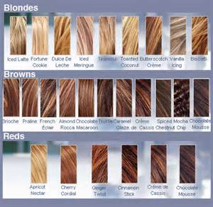 Blonde Hair Color Chart with Names
