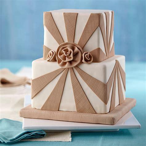 fondant cake roses burlap wilton designs tendencias square rustic decorated sweet mother