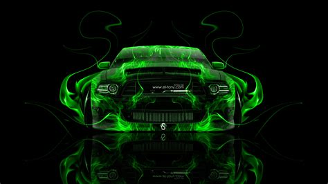 ford mustang gt muscle fire abstract car  el tony