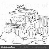 Plow Snow Coloring Clipart Truck Pages Illustration Printable Visekart Royalty Template Rf Getdrawings Leopard Getcolorings Sketch Print sketch template