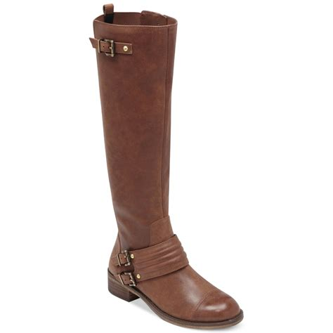 brown moto boots jessica simpson elmont moto boots in brown bourbon lyst