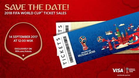 Ticket Sales For 2018 Fifa World Cup™ To Start On 14