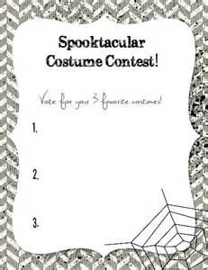 Halloween Costume Contest Voting Ballot Templates